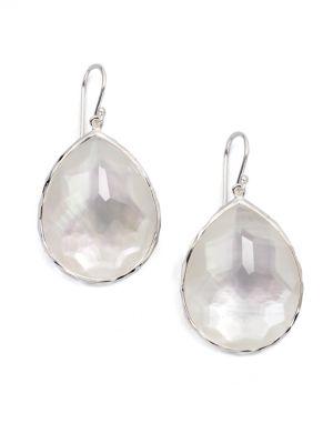 Rock Candy Large Sterling Silver & Doublet Teardrop Earrings