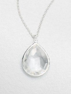 IPPOLITA - Clear Quartz & Sterling Silver Large Teardrop Pendant Necklace