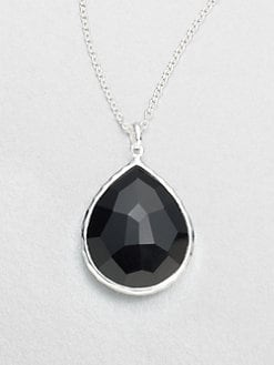 IPPOLITA - Onyx & Sterling Silver Large Teardrop Pendant Necklace