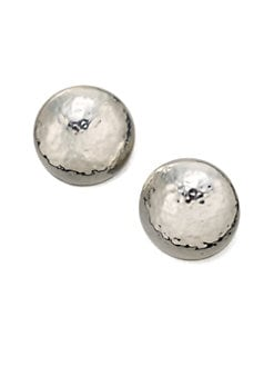 IPPOLITA - Large Sterling Silver Clip-On Button Earrings