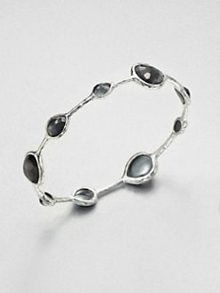 IPPOLITA - Hematite Doublet Sterling Silver Station Bangle Bracelet