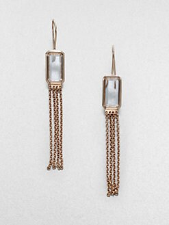 IPPOLITA - Rose Medium Square Clear Quartz Chain Earrings