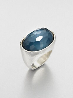 IPPOLITA - Indigo Doublet Sterling Silver Oval Ring