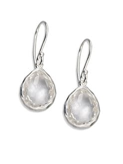 IPPOLITA - Clear Quartz Sterling Silver Teardrop Earrings