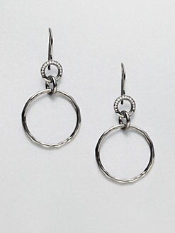 IPPOLITA - Blackened Sterling Silver Diamond Link Earrings