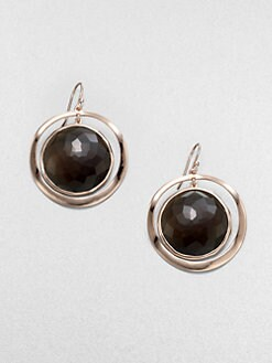 IPPOLITA - Rose Open Disc Smokey Quartz Earrings