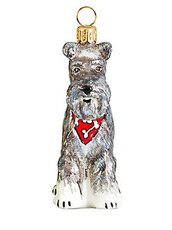 Joy To The World Bandana Schnauzer Christmas Ornament
