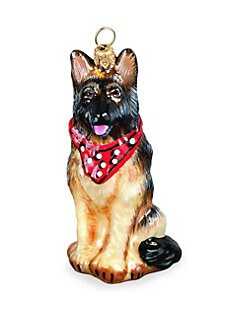 Joy To The World Bandana German Shepherd Christmas Ornament