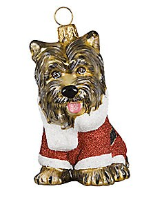 Dressed as Santa Claus Yorkie Ornament