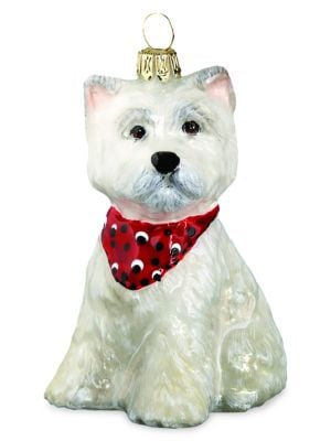 Image of Westie Puppy Ornament