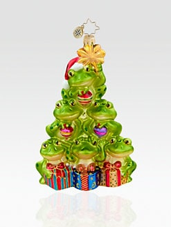 Christopher Radko - Tip-Top Toad Tree Glass Ornament