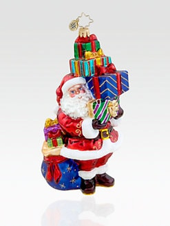 Christopher Radko - Tip-Top Claus Glass Ornament