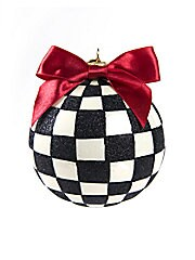 Checkered Ball Ornament