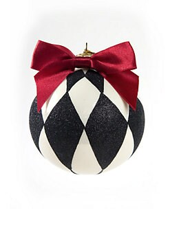 MacKenzie-Childs - Coutly Harlequin Glass Ball Ornament