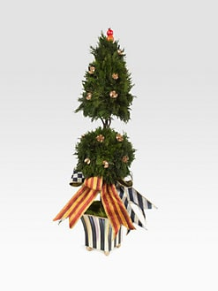 MacKenzie-Childs - Courtly Stripe Cypress Medium Topiary