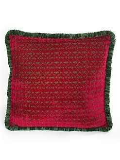 MacKenzie-Childs - Rococo Red Silk Pillow
