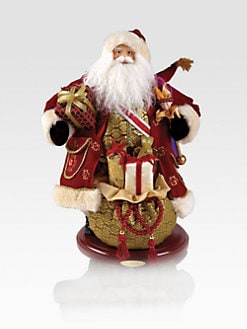 Christopher Radko - Regal Heirloom Fabric Santa
