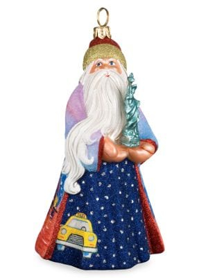 Image of Santa Glass Ornament