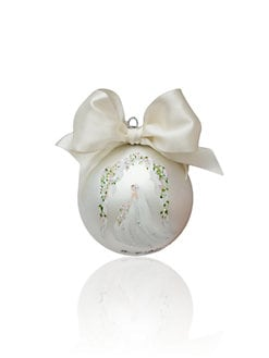 Sarabella Creations Boutique - Bride Glass Ornament