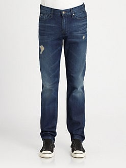 7 For All Mankind - Slimmy Straight-Leg Jeans