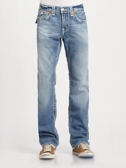 True Religion - Ricky Super-T Straight-Leg Jeans