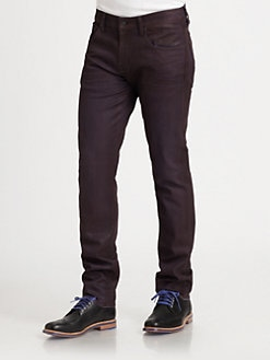 7 For All Mankind - Coated Straight-Leg Jeans