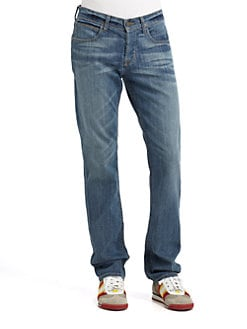 Hudson - Five-Pocket Straight Leg Jeans