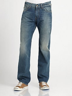 7 For All Mankind - Austyn Tucker Blues Straight-Leg Jeans