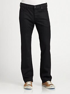 7 For All Mankind - Coated Standard Straight-Leg Jeans