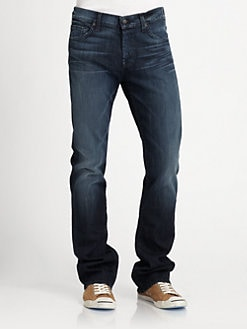 7 For All Mankind - Nate Rustic Amber Slim Bootcut Jeans