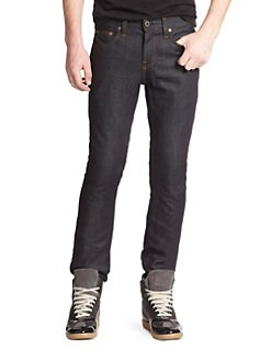 J Brand - Kane Slim Straight-Leg Jeans/Raw