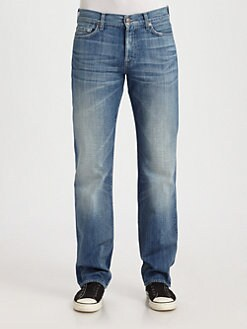 7 For All Mankind - Standard Summer Shower Straight-Leg Jeans