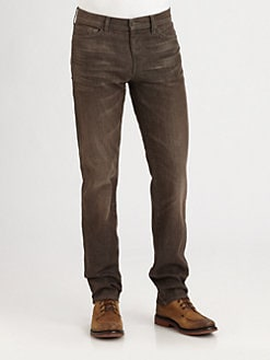7 For All Mankind - Slimmy Straight-Leg Brushed Jeans