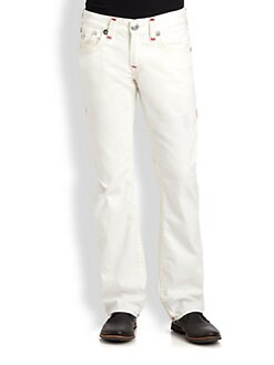 True Religion - Ricky Contrast Super T Straight-Leg Jeans