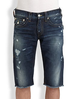 True Religion - Ricky Cut-Off Shorts