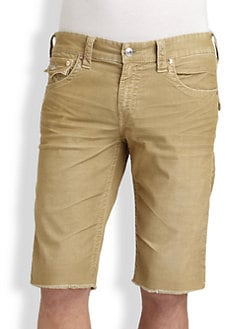 True Religion - Ricky Corduroy Cut-Off Shorts