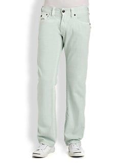 True Religion - Ricky Overdyed Straight-Leg Jeans