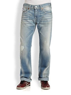 True Religion - Ricky Super T Straight-Leg Jeans