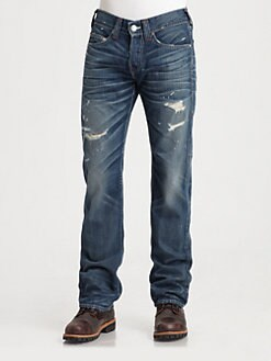 True Religion - Bobby Straight-Leg Jeans