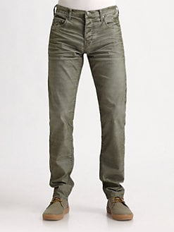 True Religion - Slim-Fit Fine-Corduroy Pants