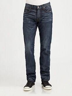 J Brand - Kane Selvage Straight-Leg Jeans