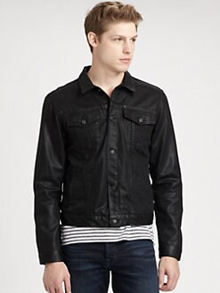 7 For All Mankind - High Gloss Coated Denim Jacket