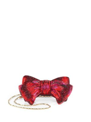 Bow Crystal Convertible Clutch