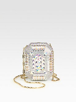 Judith Leiber - Crystal Ombre Clutch/Goldtone