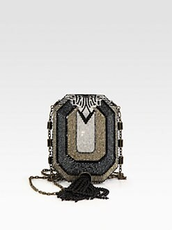 Judith Leiber - Crystal Octagon Clutch/Antique Goldtone