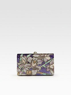 Judith Leiber - Floral Motif Crystal Clutch