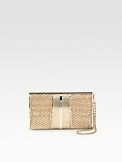Judith Leiber - Crystal Oval Sided Wristlet