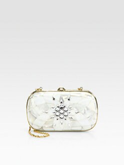 Judith Leiber - Mother-Of-Pearl & Crystal Clutch