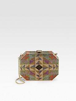 Judith Leiber - Crystal Hexagonal Rectangle Clutch