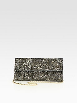 Judith Leiber - Ritz Fizz Crystal & Leather Clutch